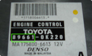 Toyota Part Number 2