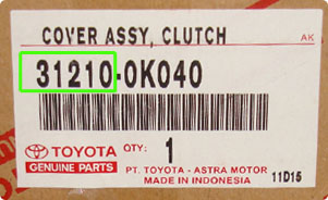 Toyota Part Number