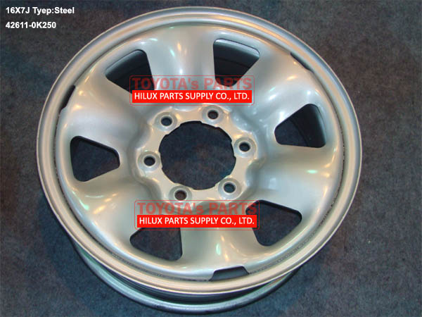 42611-0K250,Toyota Hilux Vigo Steel Wheel Disc 16X7J