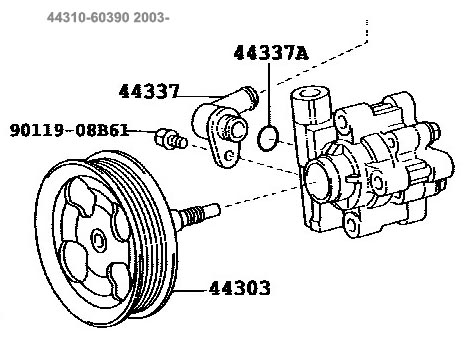 44310-60390,Toyota UZJ100 Power Steering Pump